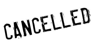 Cancelled rubber stamp Royalty Free Stock Images