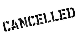 Cancelled rubber stamp Royalty Free Stock Photos