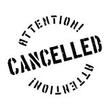 Cancelled rubber stamp Stock Photography