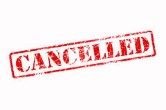 Cancelled Rubber Stamp Red Stock Photos