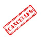 Cancelled rubber stamp. On white background royalty free illustration