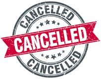 cancelled stamp Στοκ φωτογραφία με δικαίωμα ελεύθερης χρήσης
