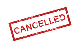 Cancelled stamp Royalty Free Stock Photography
