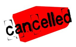 Cancelled sticker stamp Royalty Free Stock Photo