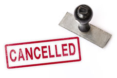 Cancelled text sign label stamp. royalty free stock image