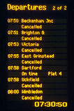 Cancelled trains Royalty Free Stock Images