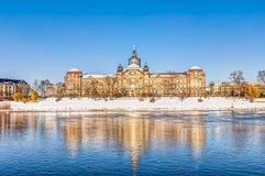 Cancelleria dello stato di Saxon a Dresda nell'inverno Immagine Stock
