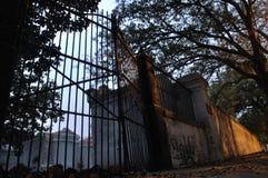 Cancelli del cimitero Fotografie Stock