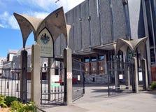 Cancelli dell'istituto universitario del Christ, Christchurch, Nuova Zelanda Fotografia Stock