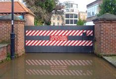 Cancelli di inondazione fotografia stock libera da diritti