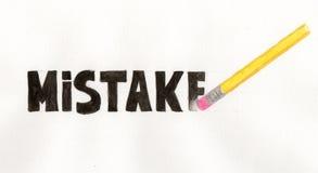 Cancelli i vostri errori Immagine Stock Libera da Diritti