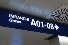 Cancelli italiani dell'aeroporto Immagine Stock
