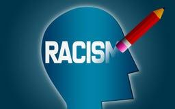 Cancelli la parola del razzismo dalla testa umana royalty illustrazione gratis