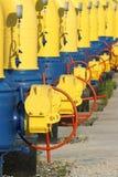 Cancelli sul gasdotto Fotografia Stock Libera da Diritti