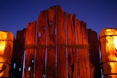 Cancello 01 di notte Fotografia Stock Libera da Diritti
