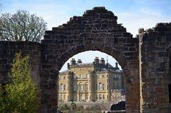 Cancello al castello di Cuzean Immagine Stock