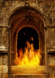 Cancello all'inferno immagine stock