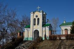 Cancello alla chiesa cattolica Immagine Stock Libera da Diritti