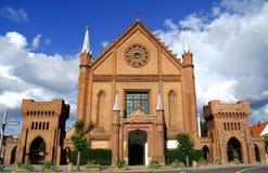 Cancello alla chiesa gotica Immagini Stock