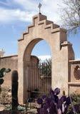 Cancello alla missione del San Xavier del Bac Spanish Immagini Stock Libere da Diritti