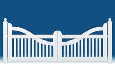 Cancello bianco Immagini Stock Libere da Diritti