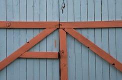 Cancello blu Immagine Stock