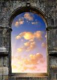 Cancello a cielo Fotografia Stock Libera da Diritti