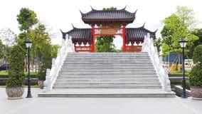 Cancello cinese Fotografie Stock Libere da Diritti