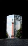 Cancello Darmstadt del castello Fotografia Stock