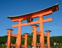 Cancello dei tori di Miyajima Fotografia Stock Libera da Diritti