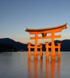 Cancello dei tori di Miyajima Fotografia Stock