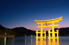 Cancello dei tori di Miyajima Fotografie Stock