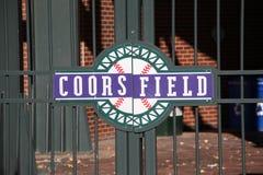 Cancello del campo di Coors - Colorado Montagne Rocciose Fotografia Stock Libera da Diritti