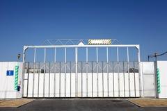 Cancello del cantiere Fotografia Stock Libera da Diritti