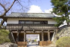 Cancello del castello di Takashima Immagine Stock