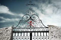 Cancello del cimitero Fotografia Stock Libera da Diritti