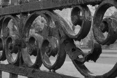 Cancello del ferro saldato Fotografia Stock Libera da Diritti