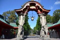 Cancello del giardino zoologico di Berlino Fotografia Stock Libera da Diritti