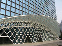Cancello del Gridding di alta costruzione Fotografia Stock