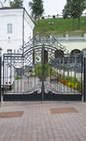 cancello del Modellato-ferro Immagini Stock Libere da Diritti