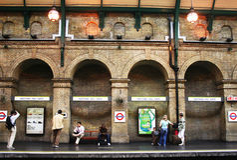 Cancello del Notting Hill Immagini Stock