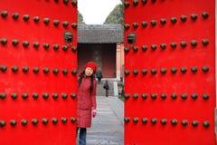 Cancello del palazzo della tomba di Ming a Nanjing Fotografie Stock Libere da Diritti