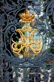 Cancello del palazzo di inverno. L'eremo Fotografie Stock