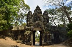 Cancello del sud a Angkor Tom Fotografie Stock