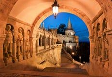 Cancello del sud del bastione del pescatore a Budapest Fotografie Stock Libere da Diritti