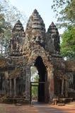 Cancello del sud di Angkor Thom fotografia stock