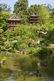 Cancello del tempiale e del Pagoda Fotografia Stock Libera da Diritti