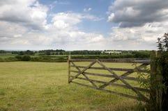 Cancello dell'azienda agricola Fotografia Stock