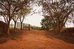 Cancello dell'azienda agricola Immagine Stock
