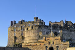 Cancello dell'entrata del castello di Edinburgh Immagine Stock Libera da Diritti
